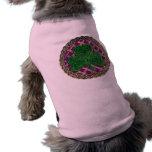Shamrock, Lattice And Celtic Knots On Purple Dog Tee Shirt