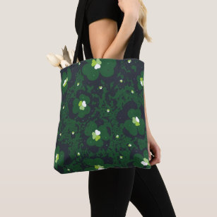 St Patty/'s Day Clover Pattern Irish Green Spacious Tote Bag