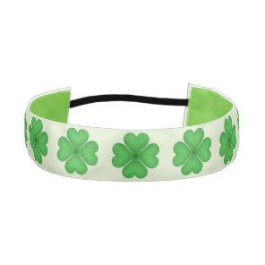 Shamrock leaf Clover Hearts pattern Athletic Headband
