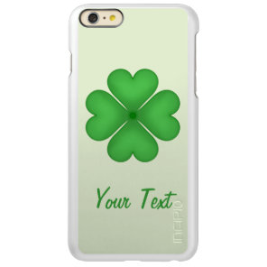 Shamrock leaf Clover Hearts pattern Customizable Incipio Feather Shine iPhone 6 Plus Case