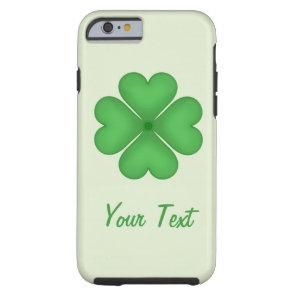 Shamrock leaf Clover Hearts pattern Customizable Tough iPhone 6 Case