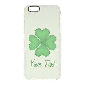 Shamrock leaf Clover Hearts pattern CustomizableSh Clear iPhone 6/6S Case