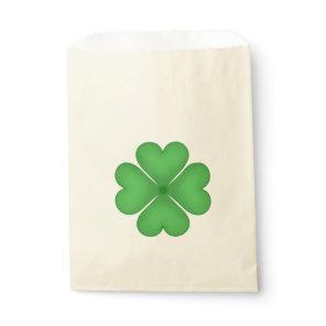 Shamrock leaf Clover Hearts pattern Favor Bag