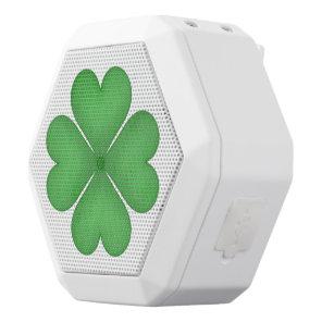 Shamrock leaf Clover Hearts White Bluetooth Speaker
