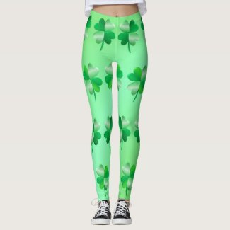 Shamrock Leggings - Light Backgroud