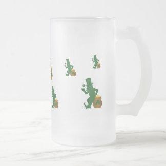 Shamrock, Leprechaun on Pot o Gold Mug