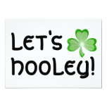 Shamrock 'Let's Hooley' invitation white