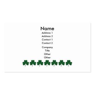 Shamrock Lines Business Card