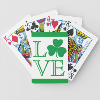 Shamrock Love Playing Cards