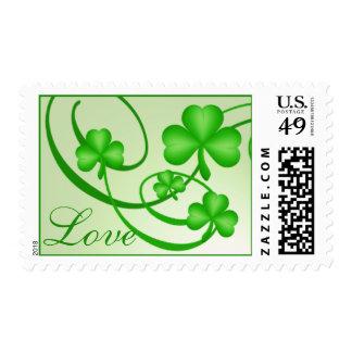 Shamrock Love Postage Stamps