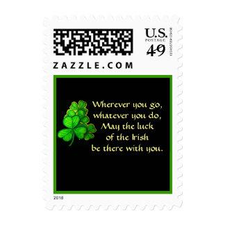 Shamrock Luck of the Irish Toast Postage
