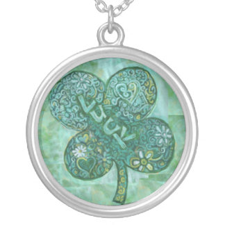 Shamrock Luck Silver Plated Necklace