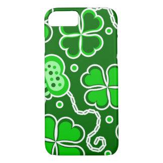 Shamrock Lucky Four Leaf Clover & Butterflies iPhone 7 Case