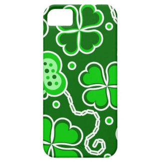 Shamrock Lucky Four Leaf Clover & Butterflies iPhone SE/5/5s Case