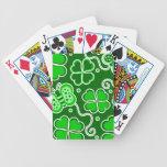Shamrock Lucky Four Leaf Clover & Butterflies Deck Of Cards