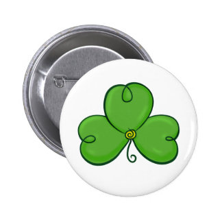 Shamrock Lucky Green Clover button