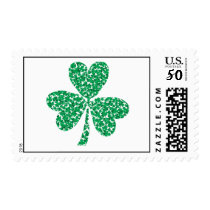 Shamrock made out of little shamrocks postage