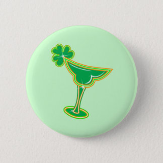 Shamrock Margarita Pinback Button