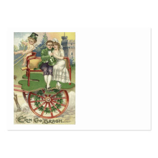 Shamrock Married Couple Horse Carriage Cherub Large Business Cards (Pack Of 100)