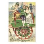 Shamrock Married Couple Horse Carriage Cherub Photo Print