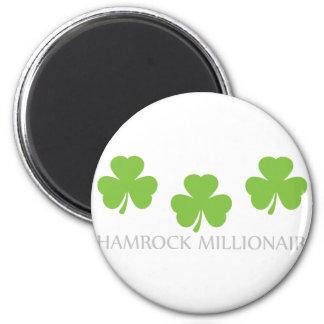 shamrock millionaire 2 inch round magnet