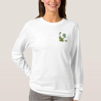 Shamrock Monogram - Customize Embroidered Long Sleeve T-Shirt