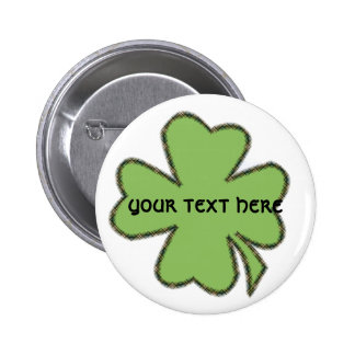 Shamrock 'n Plaid Personalized Button