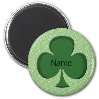 Shamrock Name Magnet Template - Round magnet