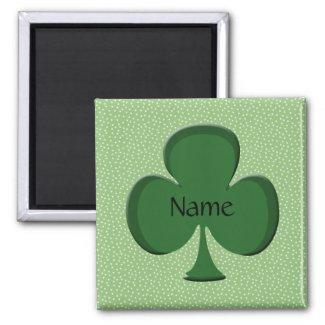 Shamrock Name Square Magnet Template zazzle_magnet