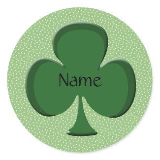 Shamrock Name Sticker Template - Irish Green sticker
