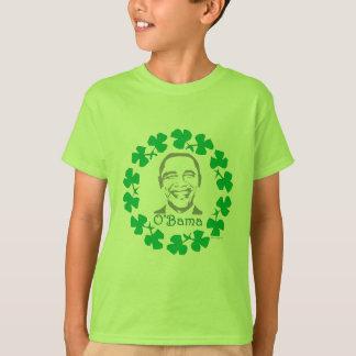 Shamrock O'Bama St. Patricks Day Kids T-Shirt