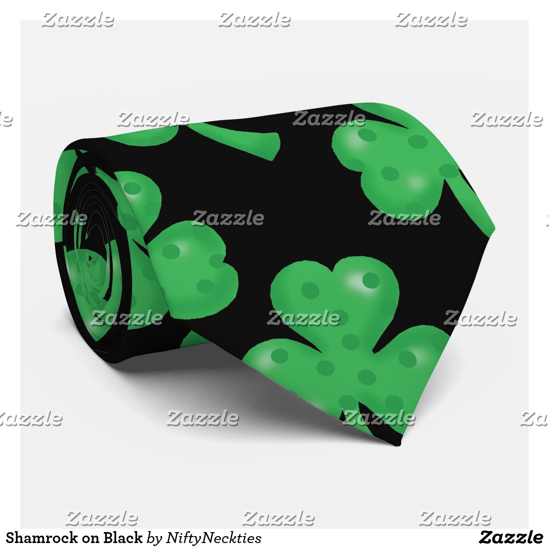 Shamrock on Black Tie