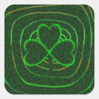 Shamrock on Spiral Stickers