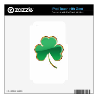Shamrock or clover iPod touch 4G decal