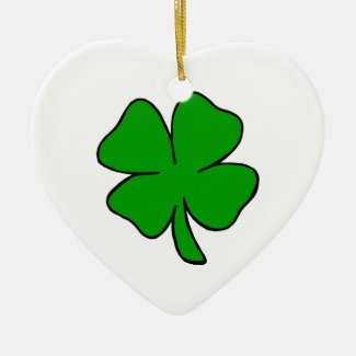 Irish Shamrock Ornaments
