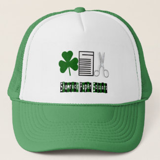 Shamrock, Paper, Scissors-Hat Trucker Hat