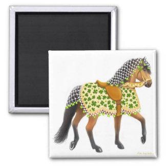 Shamrock Parade Horse Magnet