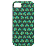 Shamrock Pattern Black iPhone 5/5S Barely There iPhone 5 Covers