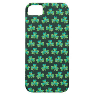 Shamrock Pattern Black iPhone 5/5S Barely There iPhone SE/5/5s Case