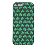 Shamrock Pattern Black iPhone 6 Slim Case Barely There iPhone 6 Case