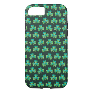 Shamrock Pattern Black iPhone 7 Tough Case