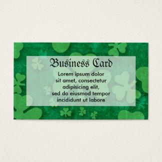 Shamrock Pattern Business Card
