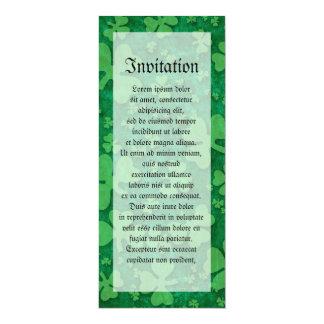 Shamrock Pattern Card