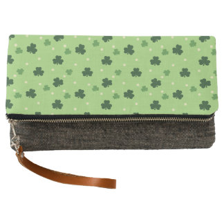 Shamrock Pattern Clutch Purse