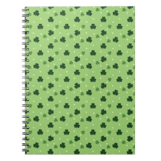 Shamrock Pattern Spiral Notebook