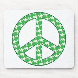 Shamrock Peace Sign Mouse Pad