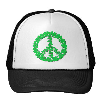 Shamrock Peace Sign Products Mesh Hats