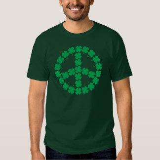 Shamrock Peace Symbol T-shirt