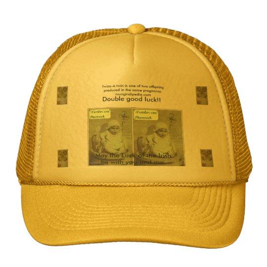 shamrock, pig and baby, shamrock, shamrock, sha... trucker hat