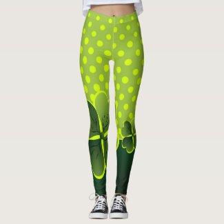 Shamrock & Polka-Dots -Be Irish for a Day Leggings